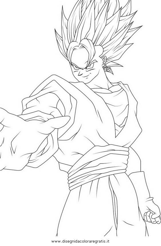 Disegno Dragonballvegito2 Personaggio Cartone Animato Da Colorare