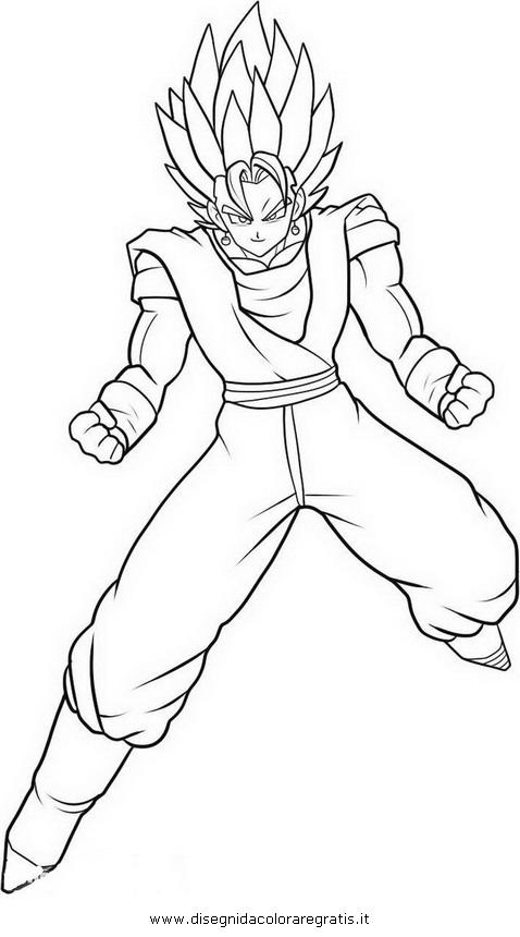 Disegno Dragonball Vegito 3 Personaggio Cartone Animato