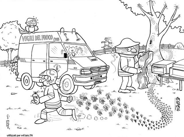 Disegno pompieri espen giorgio personaggio cartone