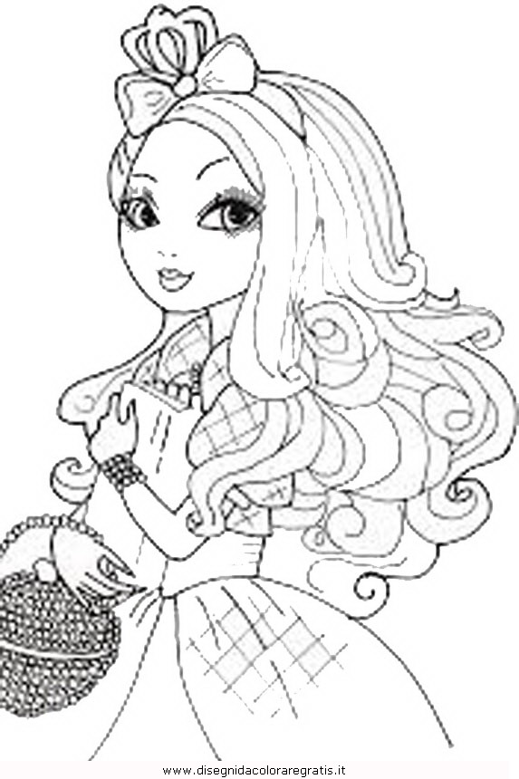 Coloring Pages Apple White : Free coloring pages of ever after high maddie