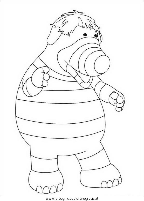 Disegno fimbles personaggio cartone animato da colorare