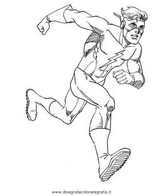 The Flash Disegni Da Colorare.Disegno Flash 39 Categoria Cartoni Da Colorare