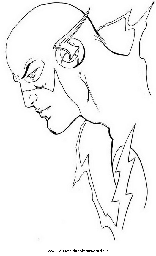 dc flash coloring coloring pages
