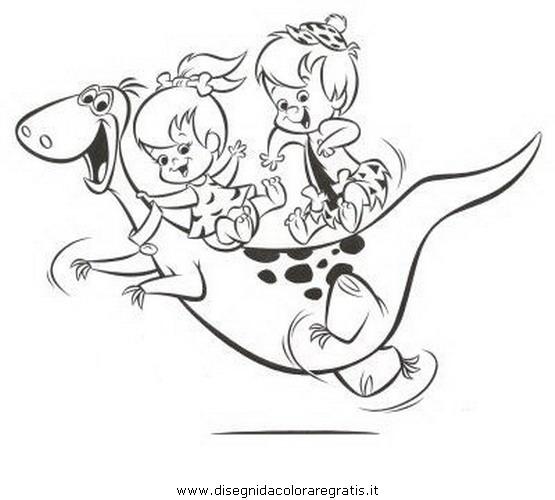 Disegno ciottolina pebbles flinstones personaggio
