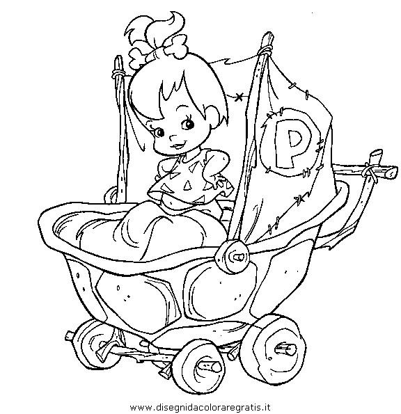 Disegno flintstones personaggio cartone animato da colorare