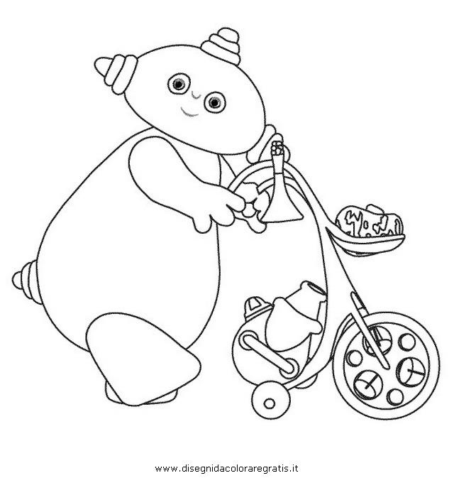 Disegno makkapakka personaggio cartone animato da colorare