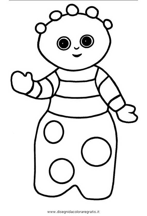 Disegno tombliboos personaggio cartone animato da colorare