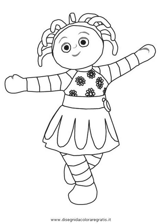 Disegno upsy daisy personaggio cartone animato da colorare