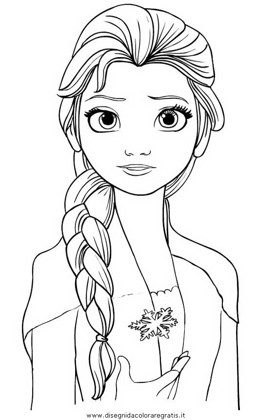 Disegno Frozen2 Elsa 02 Personaggio Cartone Animato Da Colorare