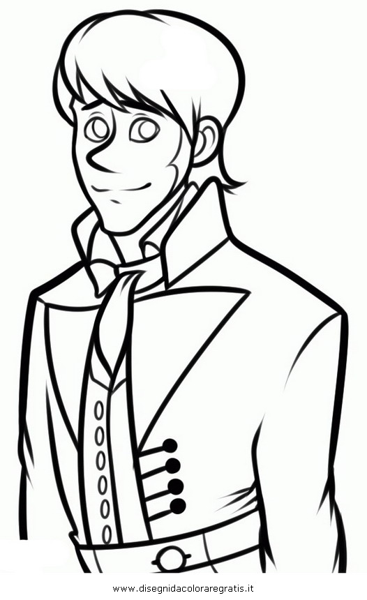 Disegno frozen prince hans personaggio cartone animato da