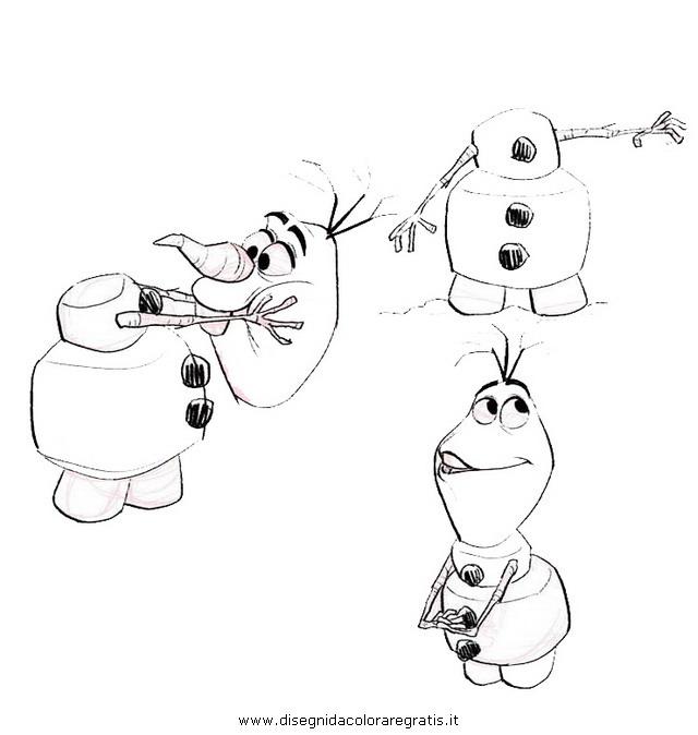 Disegno frozen personaggio cartone animato da colorare