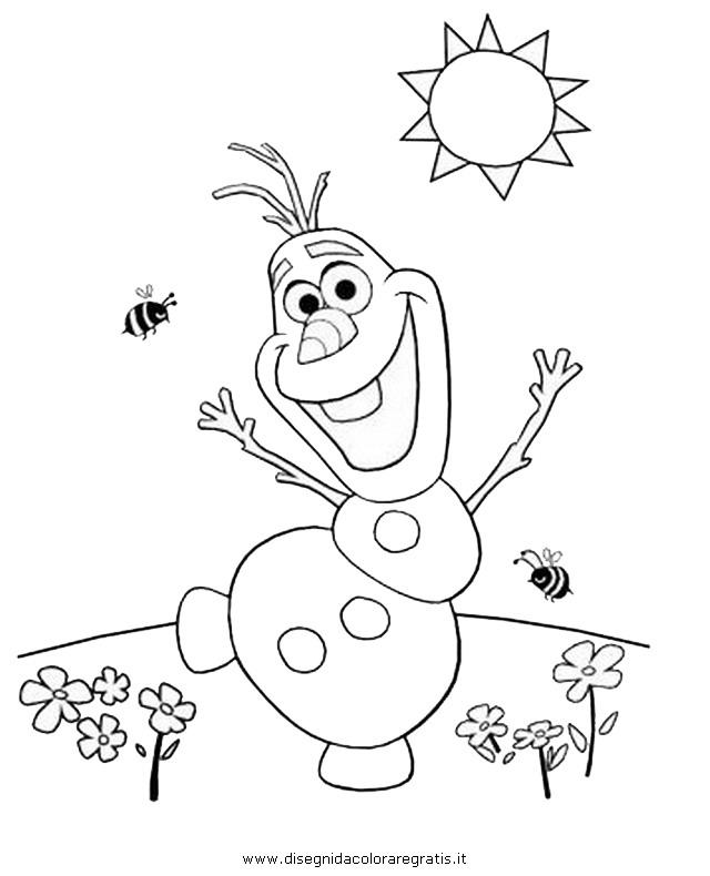Disegno frozen olaf 35 personaggio cartone animato da - Christian cartoni animati immagini ...
