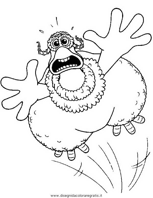 Disegno galline in fuga personaggio cartone animato da