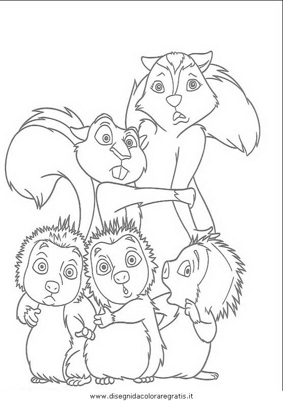 Disegno gang del bosco personaggio cartone animato da