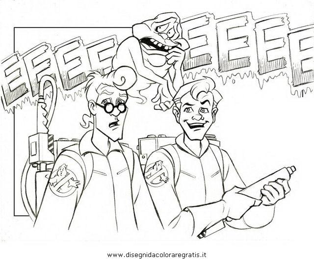 Disegno ghostbusters personaggio cartone animato da