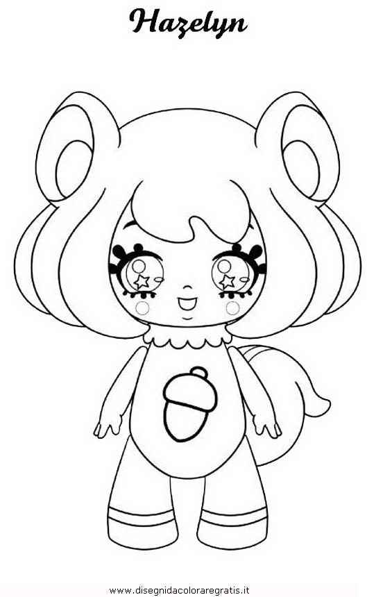 Disegno glimmies personaggio cartone animato da colorare