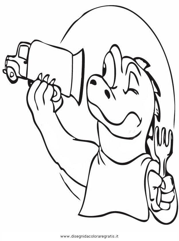Disegno godzilla personaggio cartone animato da colorare