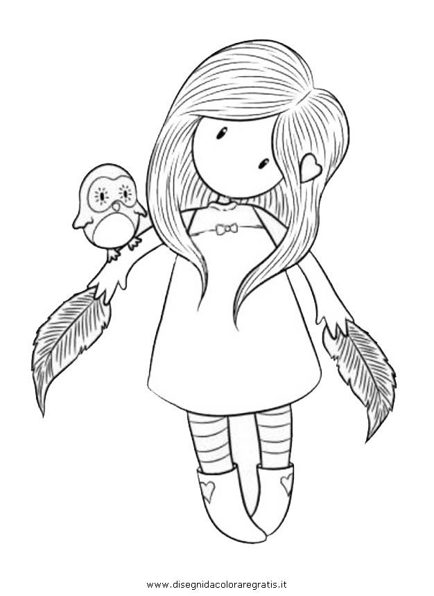 Disegno Gorjuss10 Personaggio Cartone Animato Da Colorare