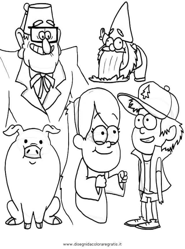 Gravity Falls Color Page Coloring Pages of Gravity