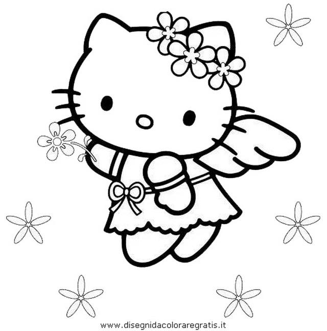 Disegno hallo kitty personaggio cartone animato da