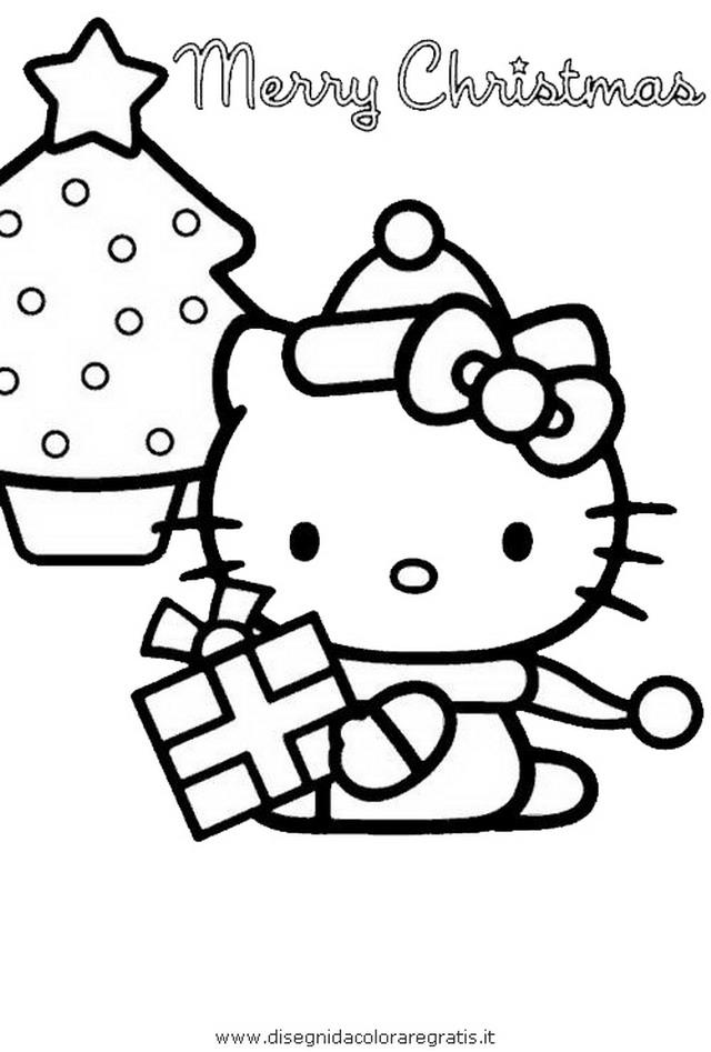 Disegno hallokitty personaggio cartone animato da colorare