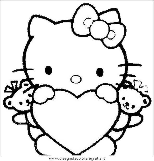 Disegno hello kitty personaggio cartone animato da