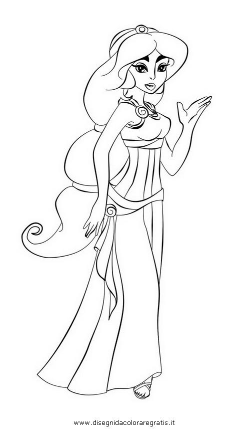 Disegno hercules megara personaggio cartone animato da