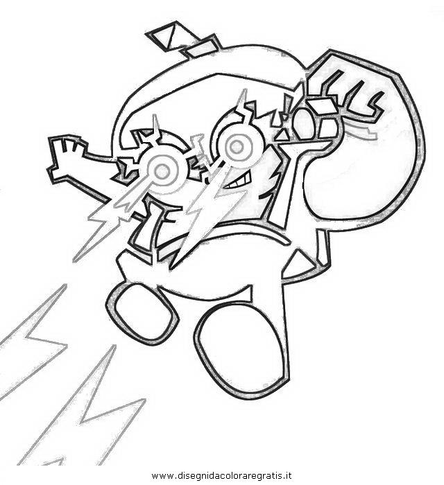 Disegno hero personaggio cartone animato da colorare