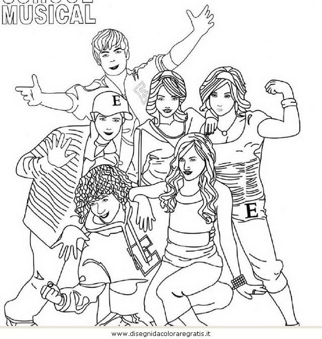 Disegno high school musical personaggio cartone