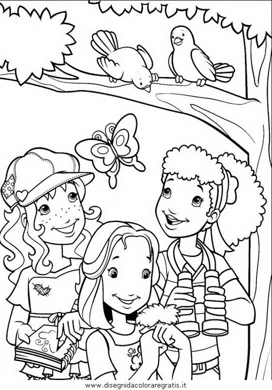 Disegno holly hobbie personaggio cartone animato da