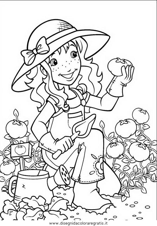 Disegni Da Colorare Gratis Holly Hobbie.Disegno Holly Hobbie 055 Personaggio Cartone Animato Da Colorare
