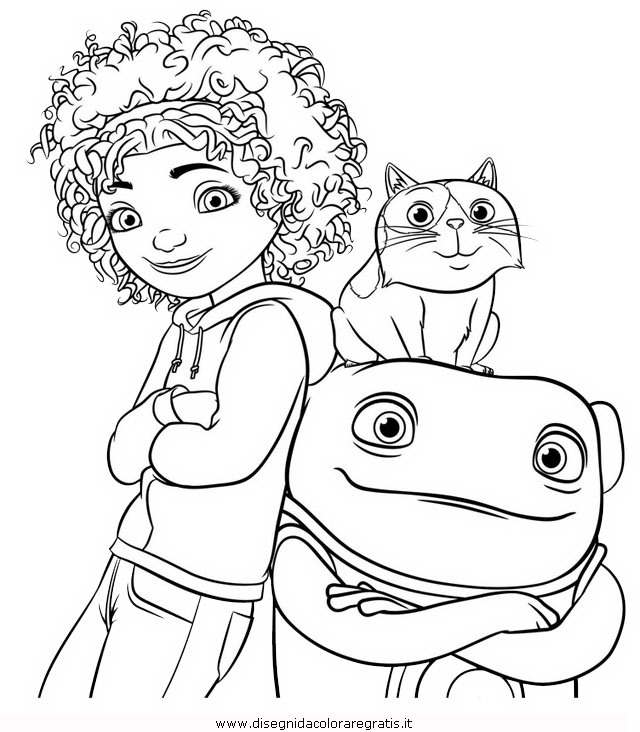 Disegno home personaggio cartone animato da colorare