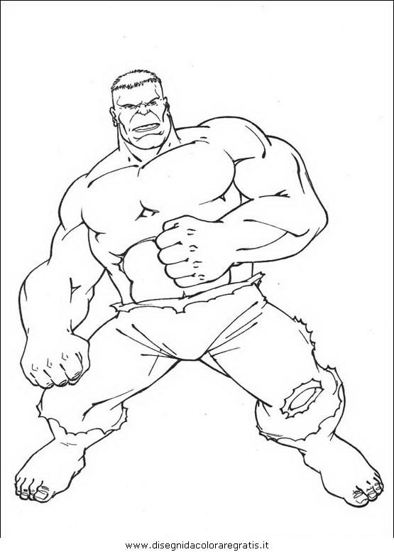 Disegno hulk personaggio cartone animato da colorare
