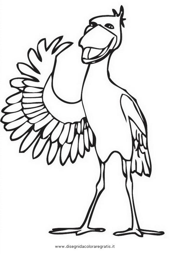 Disegno impy shoe pellicano personaggio cartone animato