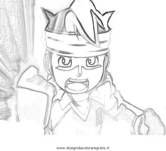 Disegno Inazuma Eleven 06 Personaggio Cartone Animato Da Colorare