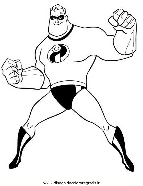 Disegno incredibili personaggio cartone animato da