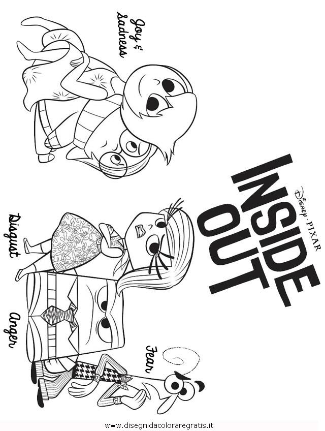 Disegno insideout personaggio cartone animato da colorare