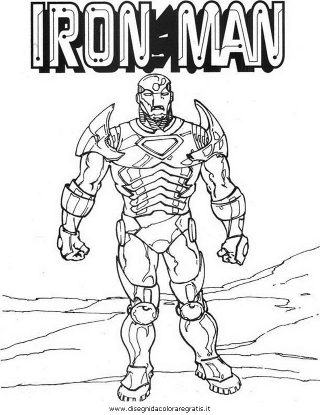 Disegno iron man personaggio cartone animato da colorare