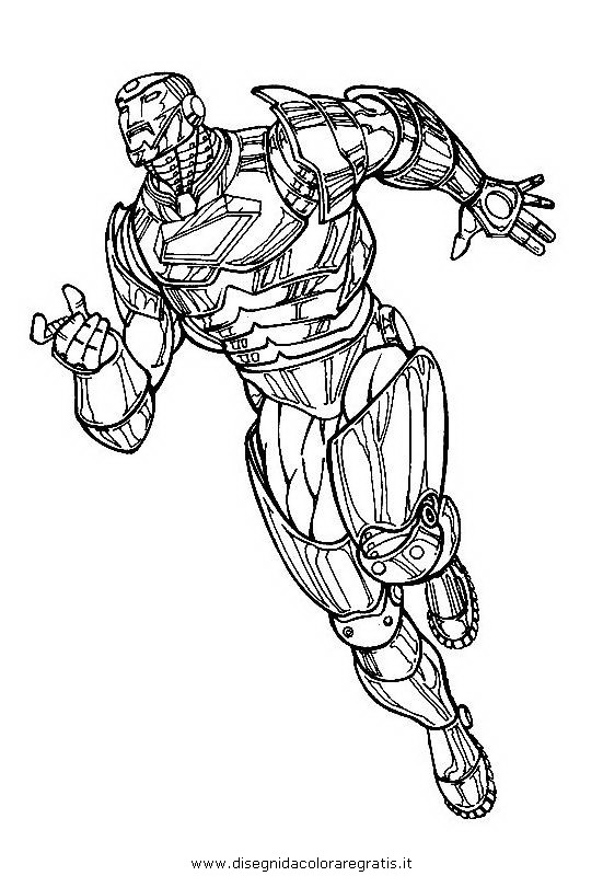 Disegno iron man 15 personaggio cartone animato da colorare for Iron man da colorare
