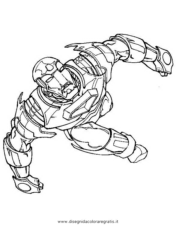 Disegno iron man 16 personaggio cartone animato da colorare for Iron man da colorare