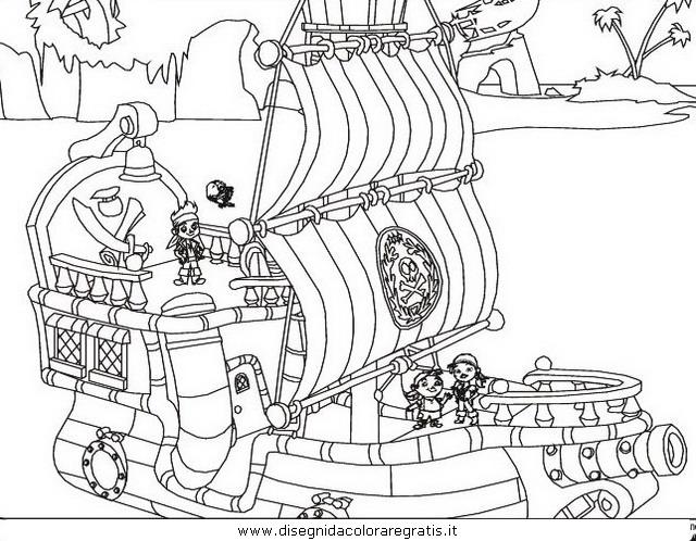 Disegno Jake Pirati 9 Personaggio Cartone Animato Da Colorare
