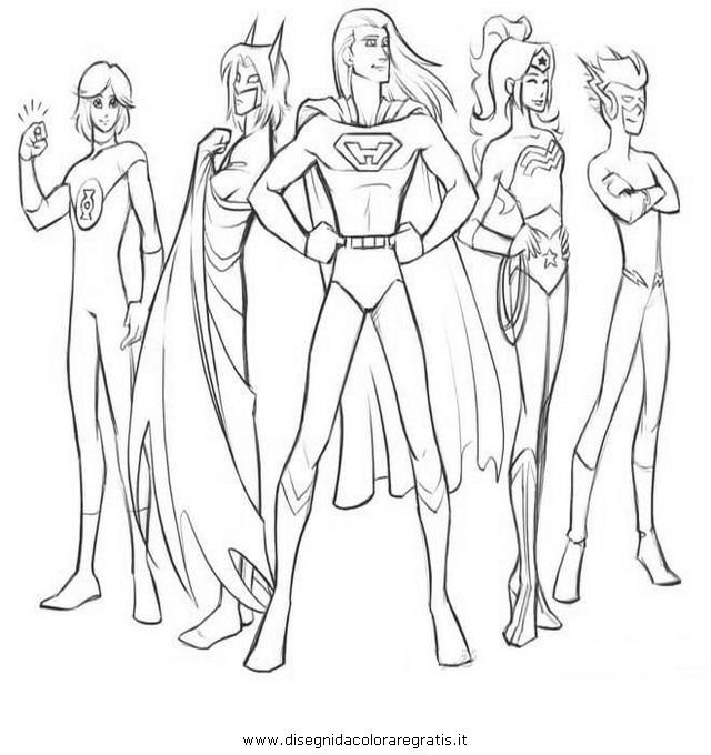 Disegno justice league personaggio cartone animato da