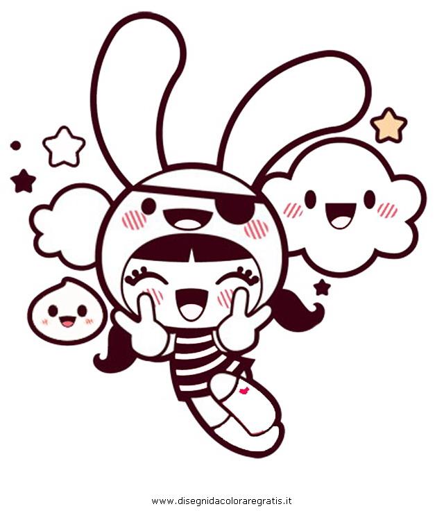 Disegno kawaii 2 personaggio cartone animato da colorare for Immagini disegni kawaii