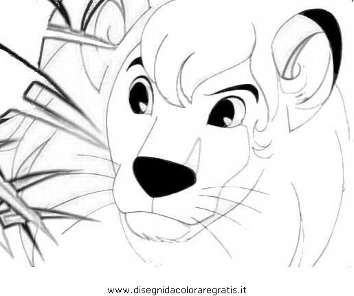 Disegno kimba personaggio cartone animato da colorare