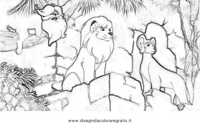 kimba coloring pages - photo#46