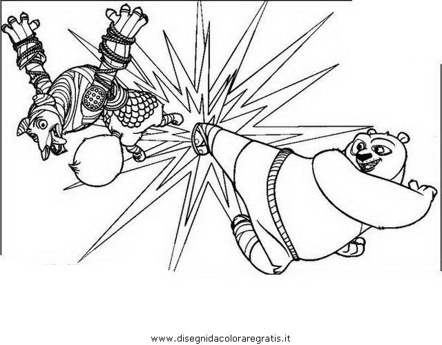 Disegno a kungfupanda personaggio cartone animato da