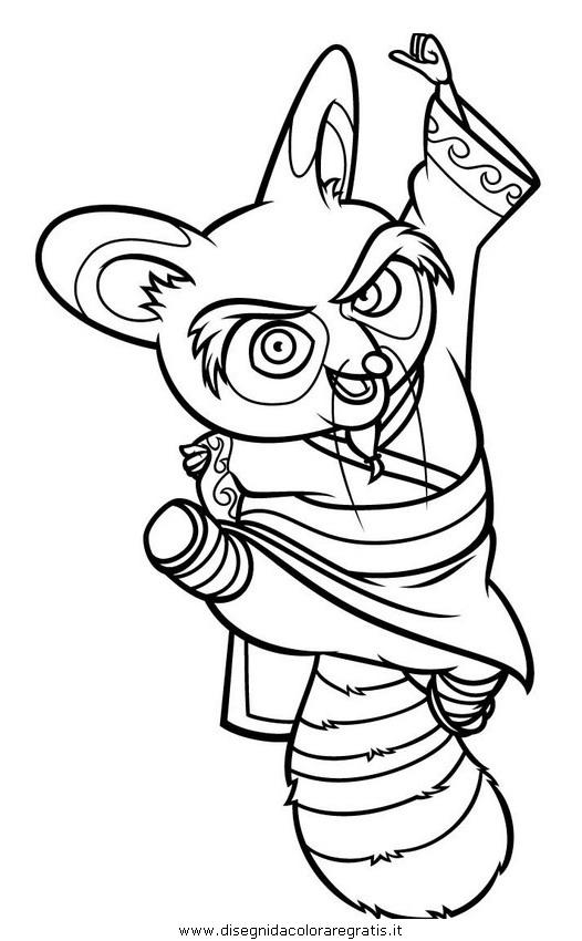Disegno kung fu panda personaggio cartone animato da