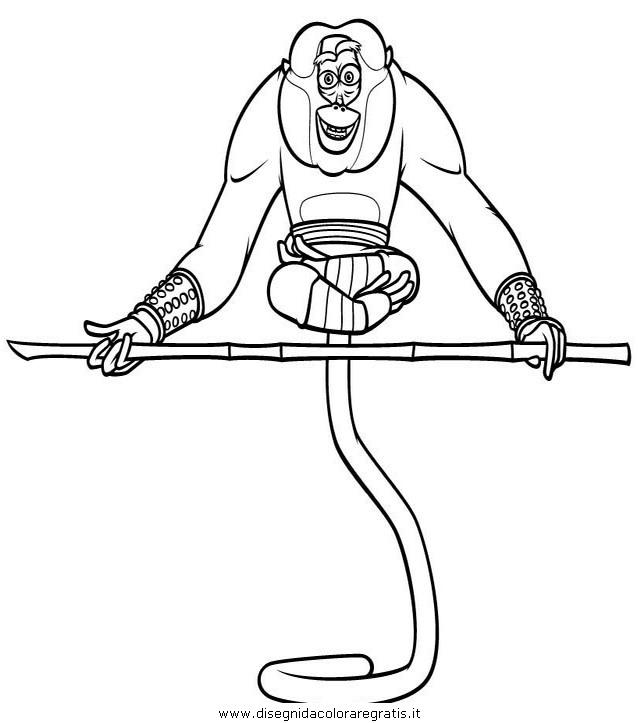 Disegno Kung Fu Panda 22 Personaggio Cartone Animato Da Colorare