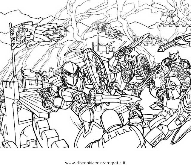 Disegno lego hero factory personaggio cartone animato da