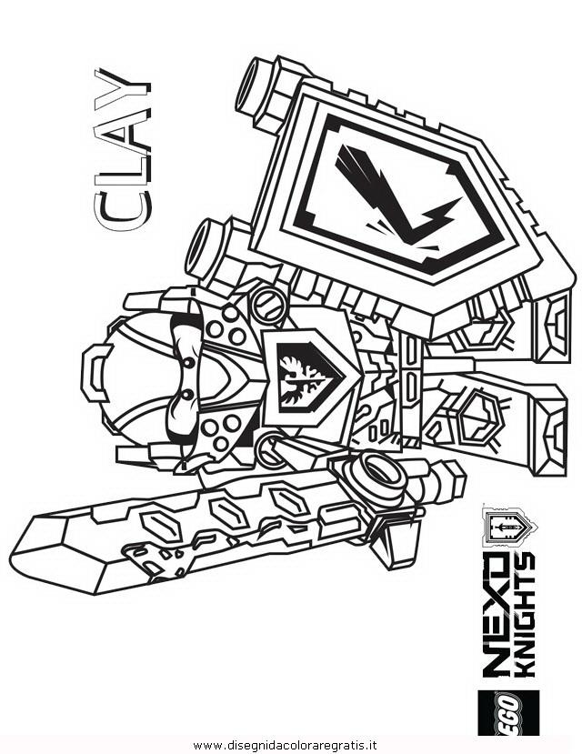 Disegno lego nexo knights personaggio cartone animato